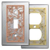 Stainless Steel Decorative Butterfly Switch Plates