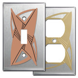 Stainless Steel Decorative Retro Style Switch Plates