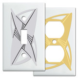 Contemporary White Switch Plates