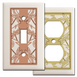 Almond Switch Plates with Dragonflies
