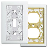 White Switch Plates with Dragonflies