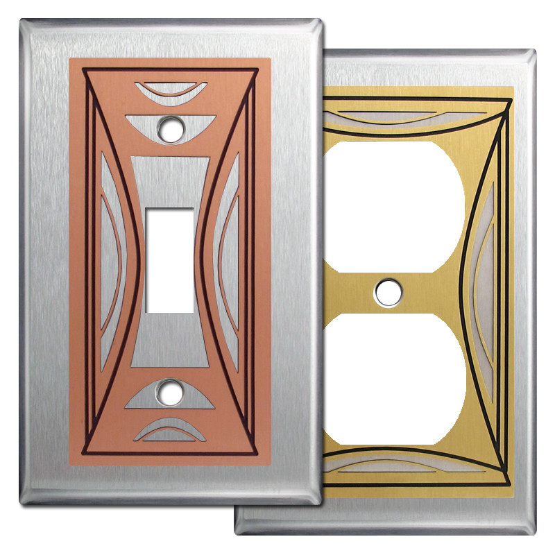 milano modern wall plate covers in stainless steel kyle. Black Bedroom Furniture Sets. Home Design Ideas
