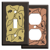 Southwest Style Switch Plates in Brown