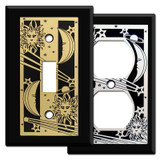Black Celestial Switch Plate Covers
