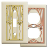 Retro Art Decor Ivory Light Switch Covers