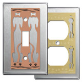 Stainless Steel Switch Plates with Dogs