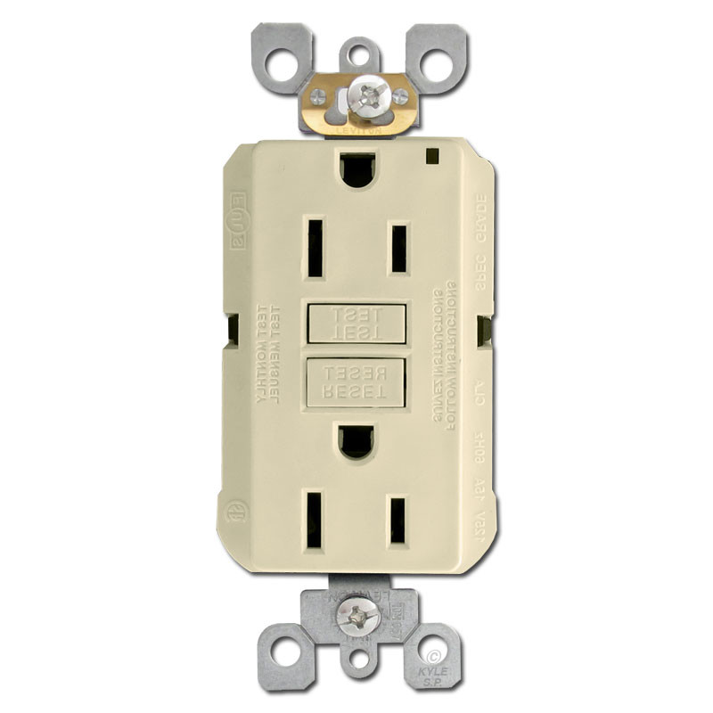 Ivory 15a gfci decora outlet receptacle kyle switch plates for Decora light switches