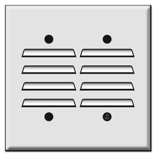 Two Gang Vertical Louvered Switch Cover Plates