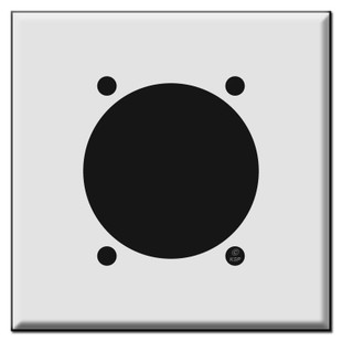 "30 50 or 60 High Amp Square Outlet Cover Wall Plate for 2.48"" Diameter"