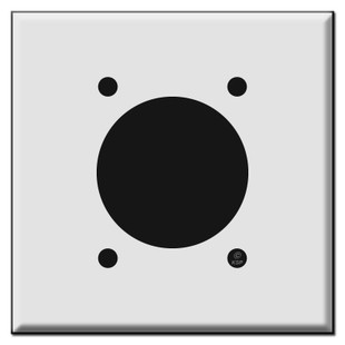 30A or 50A Range or Dryer 2.125'' Power Outlet Cover Plate