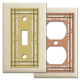 Decorative Ivory Mission Theme Switch Plates