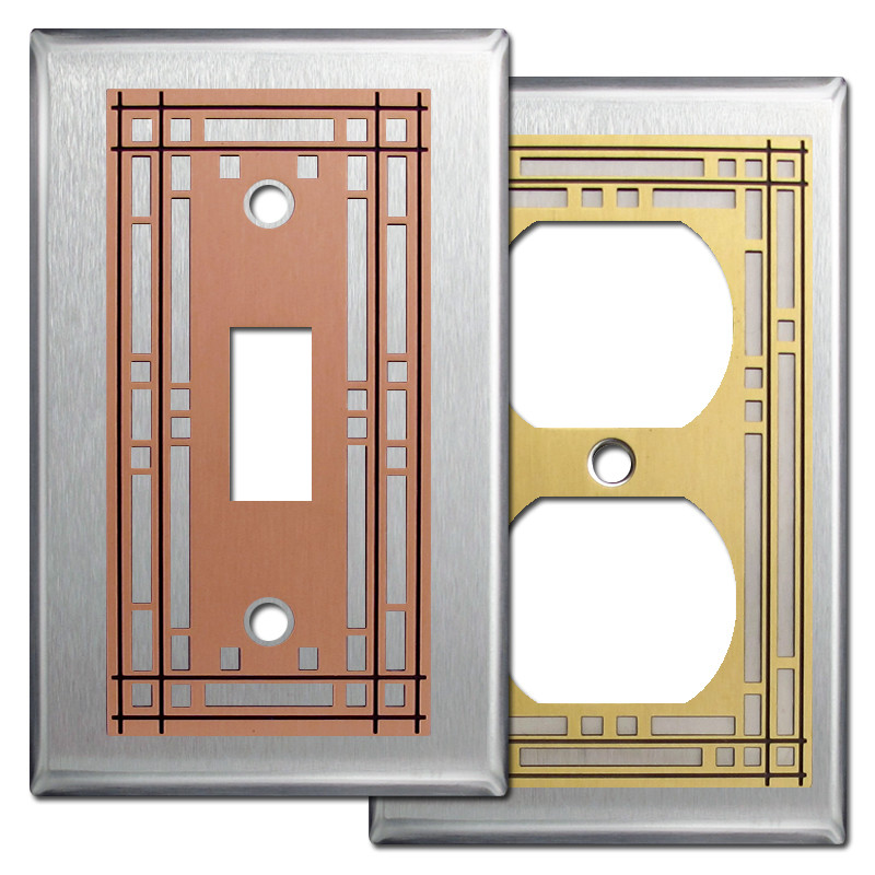 mission light switch wall plates stainless steel kyle. Black Bedroom Furniture Sets. Home Design Ideas