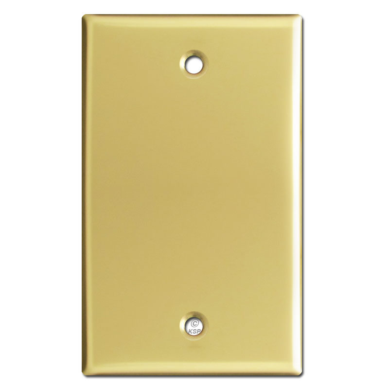 1 Gang Blank Switch Plate Covers Polished Brass Kyle