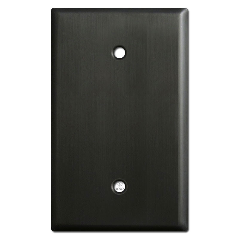 Oversized 1 Blank Light Switch Covers Dark Bronze Kyle