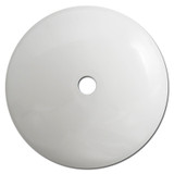 "4"" Domed Circular Ceiling Outlet Blank Wall Plates - White"