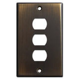 3 Switch Despard Wall Plate Cover - Oil Rubbed Bronze