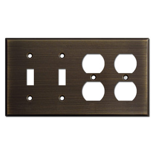 2 Toggle 2 Outlet Light Switch Wall Plates Oil Rubbed Bronze