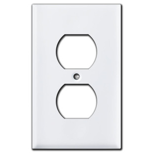 Horizontal Toggle Switch Plate in White