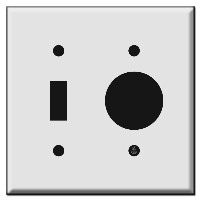Combo Toggle And Single Round Outlet Cover Plates Kyle