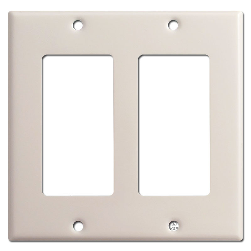 2 decora rocker switch plate light almond kyle switch for Decora light switches
