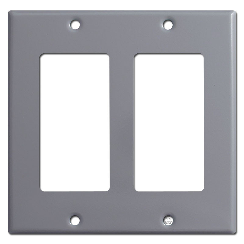 Double Rocker Light Switch Covers Gray Kyle Switch Plates