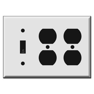 2 Duplex 1 Toggle Switch Plate