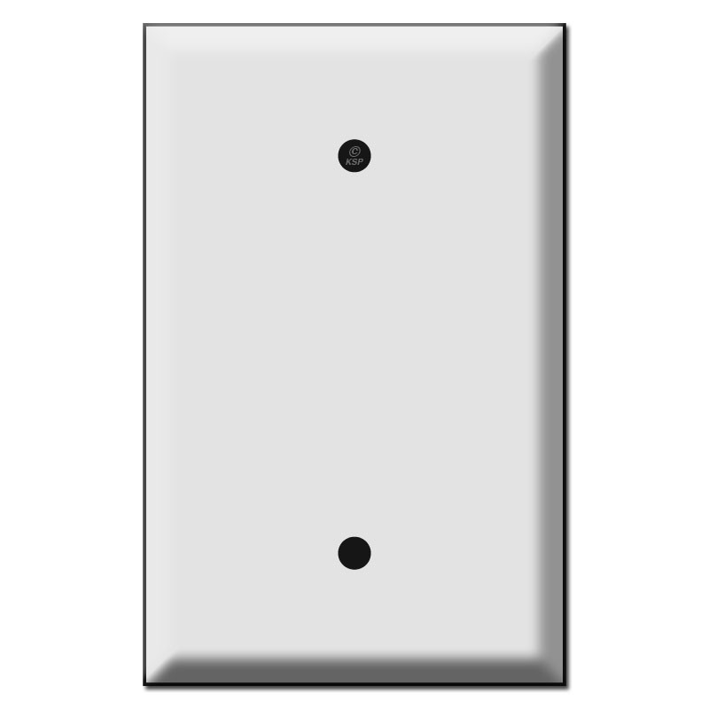Oversized Single Gang Blank Switch Plate Cover - Kyle Switch Plates