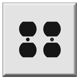 Oversized Double Gang Outlet Switch Plates for 4 Plugs