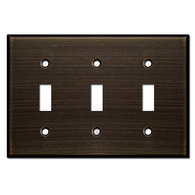 Three Toggle Switch Plate Oil Rubbed Bronze Kyle