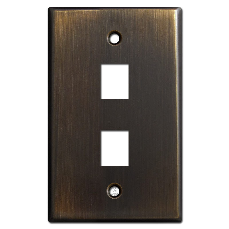 two telephone jack wall cover plates oil rubbed bronze. Black Bedroom Furniture Sets. Home Design Ideas