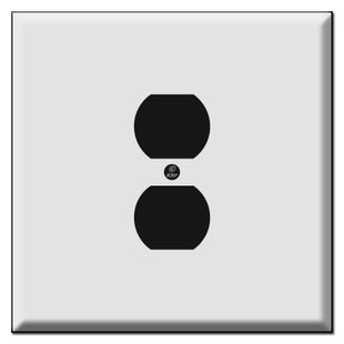 Oversized Centered Outlet Cover Plates for 2 Plugs