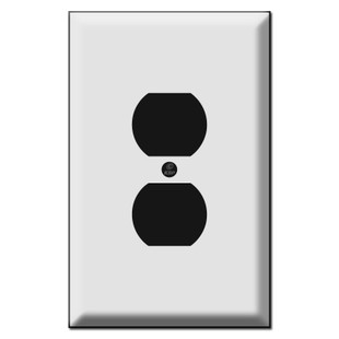Oversized Single Duplex Outlet Cover Plates