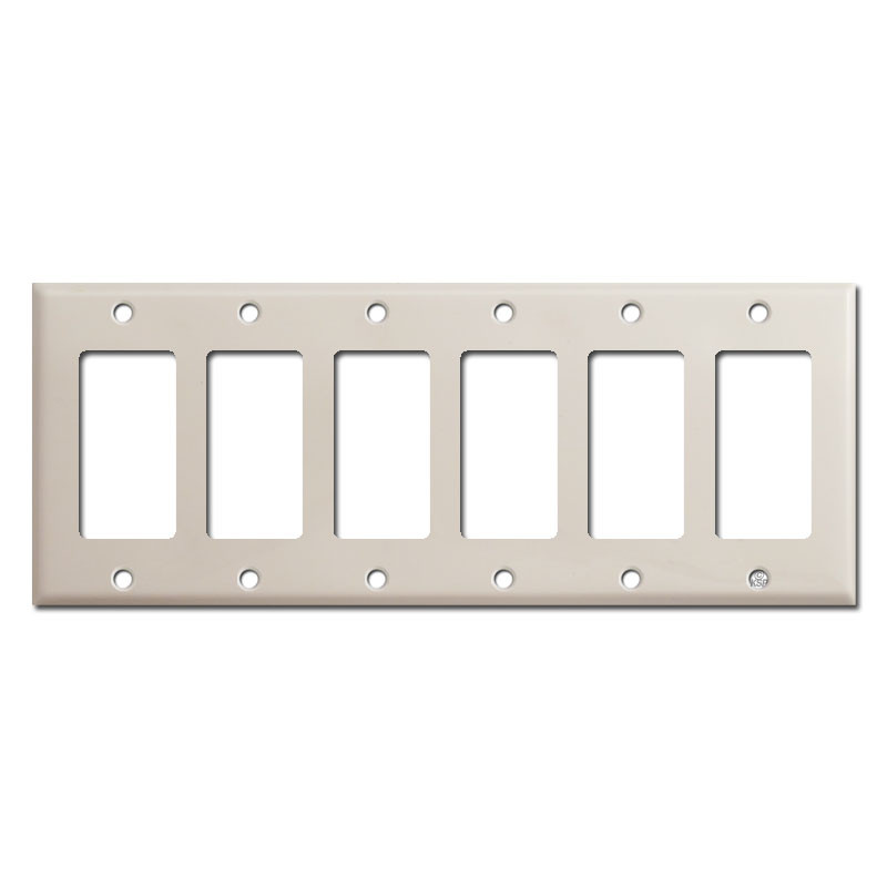 6 rocker switch plate cover light almond kyle switch
