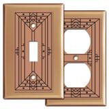 Decorative Craftsman Design Copper Switch Plates