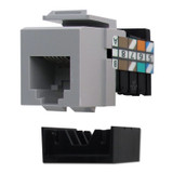 Gray Leviton RJ45 Cat3 Phone Jack for QuickPort Frames