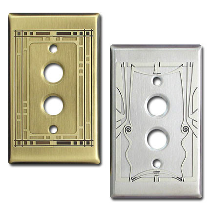 Push Button Decorative Single Light Switchplates Kyle