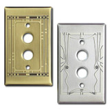 Push Button Decorative Single Light Switchplates