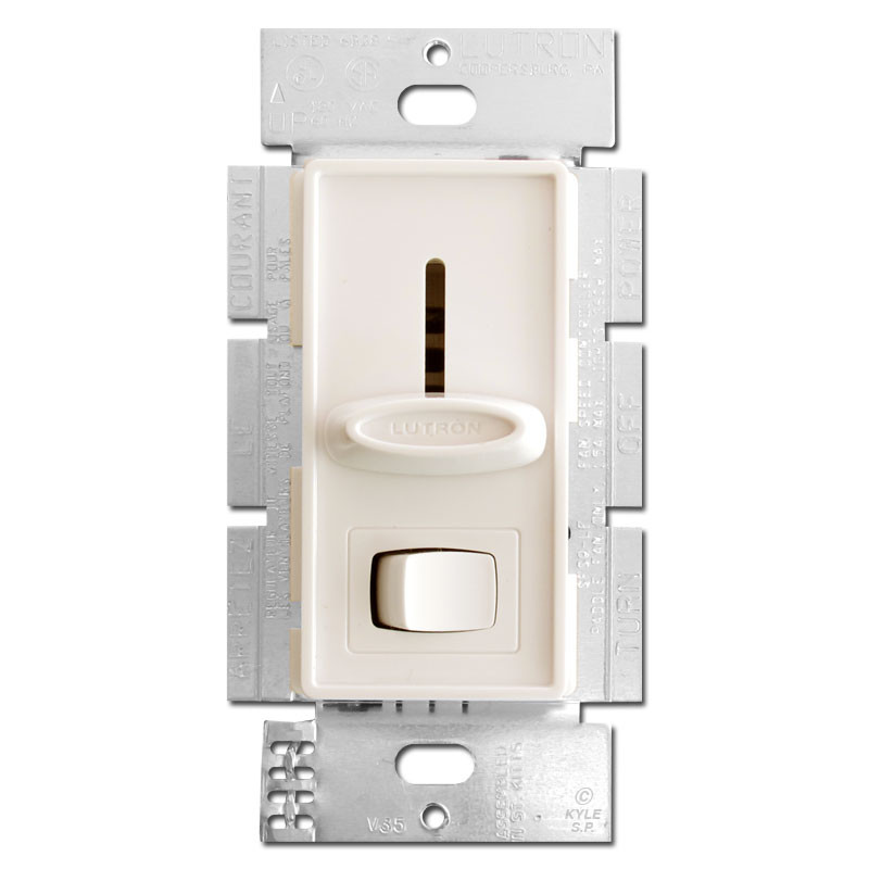 Light Almond Fan Control 3 Speed With Light Switch