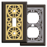 Brown Steampunk Victorian Gothic Light Switch Plates