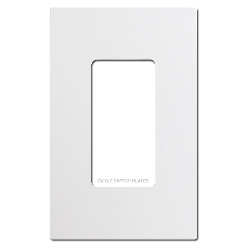 Screwless 1 Decora Rocker Switch Plate Cover White Plastic
