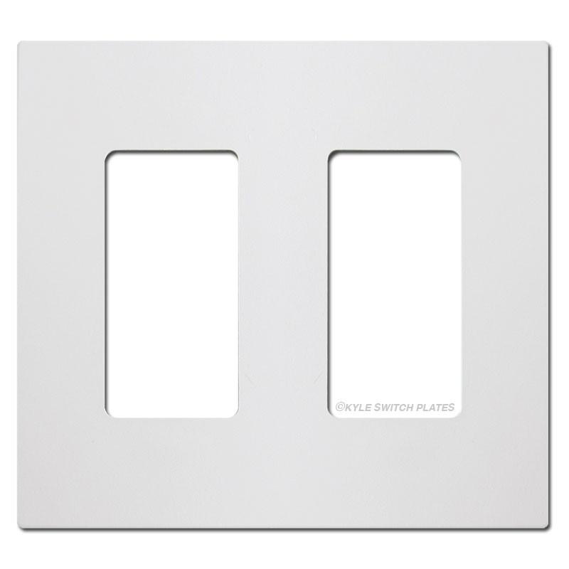 Screwless 2 gang decora rocker light switch plate white for Decora light switches