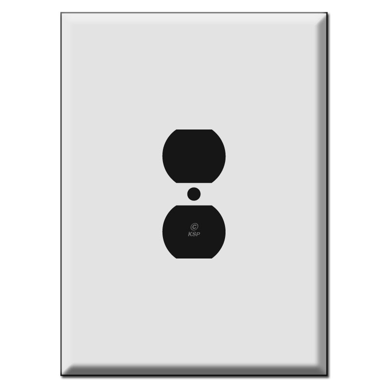 "Metal Electrical Outlet Covers Oversized Outlet Covers: Biggest Size 7.5"" Oversized Duplex Outlet Cover Switch Plates"