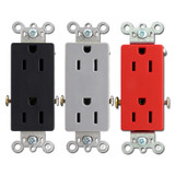 15A Pass & Seymour Decorator Spec Grade Outlet Receptacles