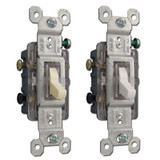 3 Way Pass & Seymour 15 Amp Lighted Toggle Switches