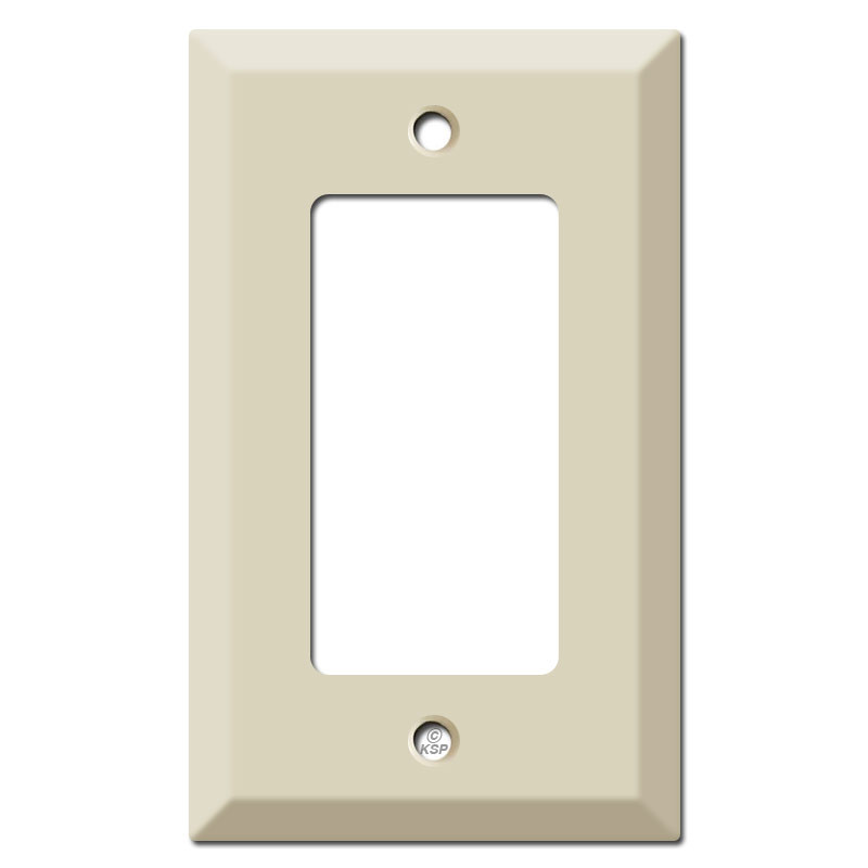 Deep raised 1 decora rocker light switch cover ivory for Decora light switches