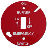 "Red 3.5"" Round Toggle Oil Burner Control Switch Cover #011"