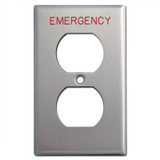 Emergency Duplex Outlet Cover for Crucial Location