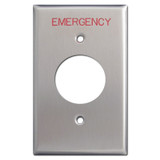 Emergency Critical Location Single Receptacle Cover Plate