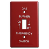 Red Single Toggle Emergency Gas Burner Switch Plate Covers #020