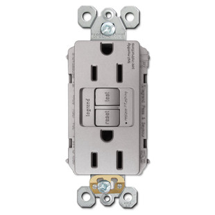 Nickel Gfci Outlet Tamper Resistant 15a Kyle Switch Plates